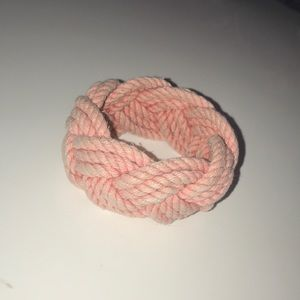 Pink thick braided bracelet